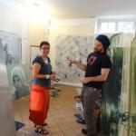 à l'atelier de Toni, au Jardin d'Alice à Paris, octobre 2014